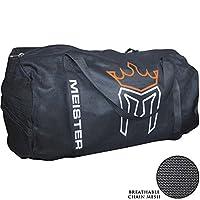 Meister X-LARGE bolsa de gimnasio de malla transpirable de malla transpirable - Negro