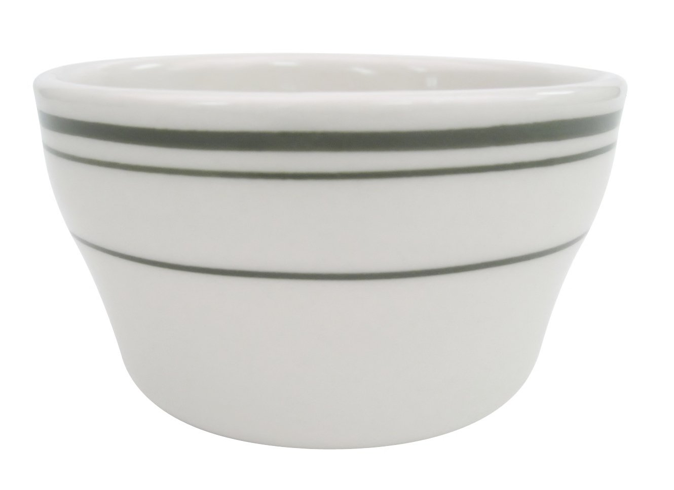 CAC China AZ-95 Arizona 4-3/8-Inch Brown Rim Brown Speckled American White Stoneware Jung Bowl, Box of 36