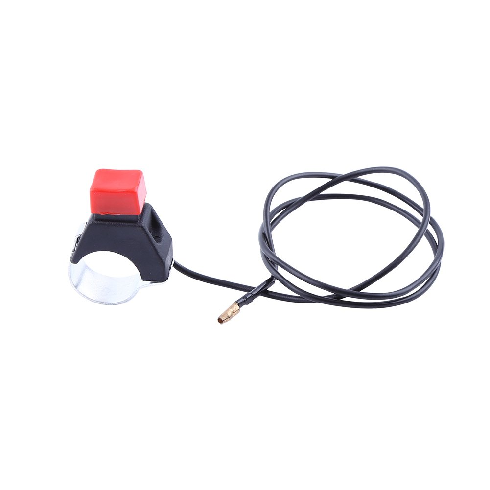 Keenso Universal Mini Moto Quad Dirt Bike Stop Kill Switch Button Fit 22mm Handlebar 49cc Motorcycle Safety Engine Stop Flameout Switch With Line