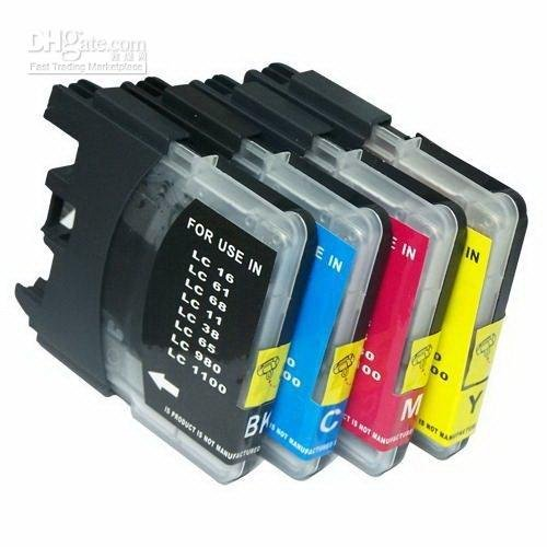 25 Pack Brother Compatible LC 61 10 -Black / 5 Cyan / 5 Magenta / 5 Yellow ink (10 Cartridge Piece)