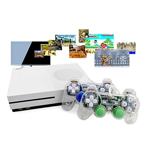 LXWM HD TV Game Consoles 4 GB Video Game Console HDMI Support Built-in TV Output 600 Classical Games for GBA/SNES/SMD/NES Format