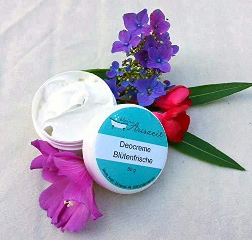 Deocreme Blütenfrische, ohne Aluminium und Konservierungsstoffe, vegan, ohne Palmöl, wirksames Deo von kleine Auszeit Manufaktur Deocreme Blütenfrische ohne Palmöl