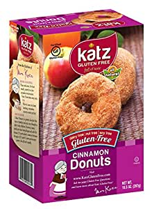 Katz Gluten Free Cinnamon Donuts, 10.5 Ounce, Certified Gluten Free - Kosher - Dairy, Nut & Soy free - (Pack of 1)