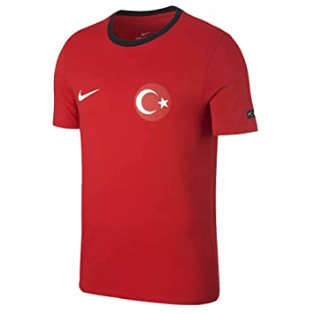 Nike Turkey té Crest – Camiseta, Hombre, 888361-657, Rojo y Negro
