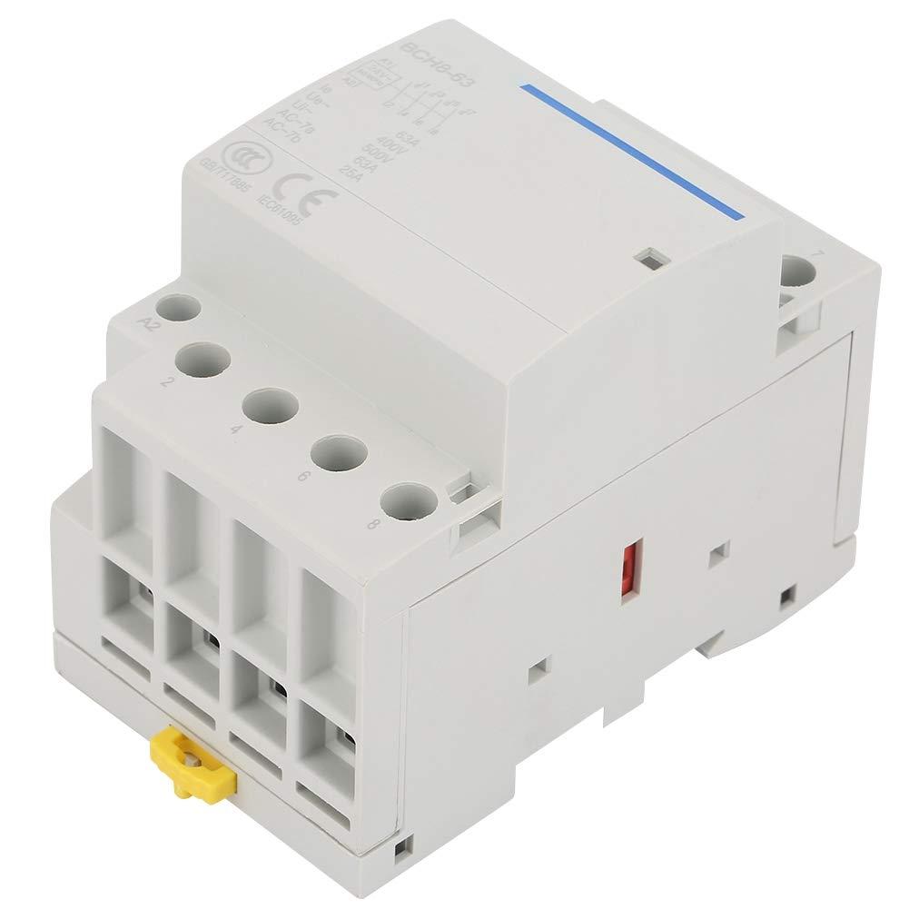 contactor de AC, Contactor de corriente alterna 63A 24V / 230V 50 / 60Hz, Montaje en carril DIN, contactos AC 4P 2NO2NC (24V AC)