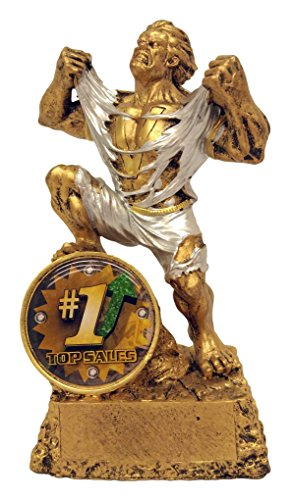 Top Sales Monster Trophy Salesman Hulk Award Salesperson trophies - Engraved Plates by Request - Perfect Sales Award Trophy - Hand Painted Design - Made by Heavy Resin Casting - - Delivery Day Usps Two Cost