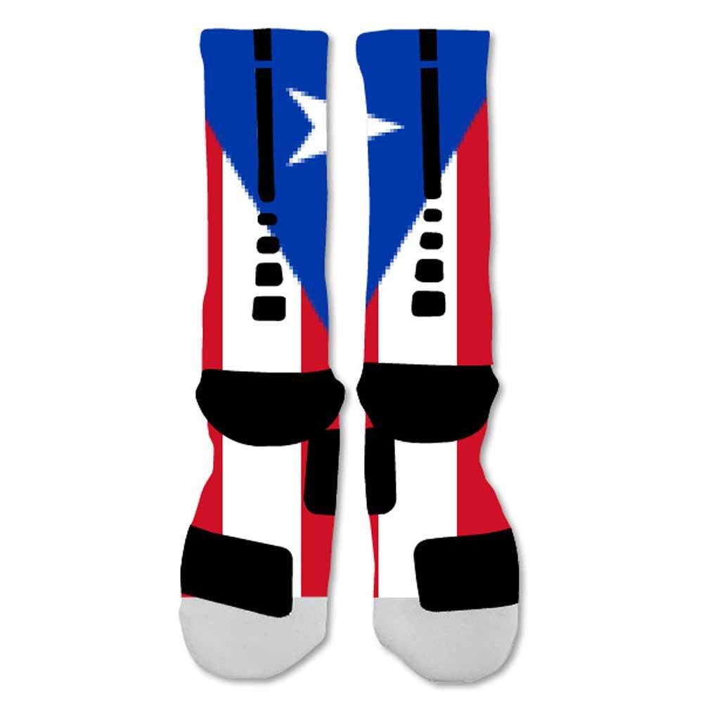 Amazon.com: elitedesignzz Hombres Calcetines de puerto Rico ...