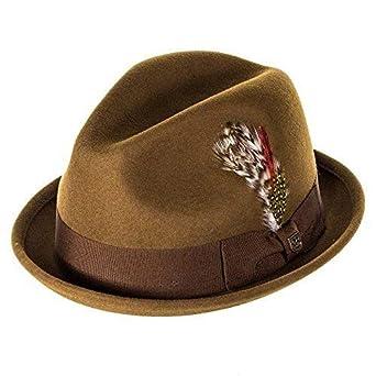 c7c088771 Brixton Hats Gain Felt Trilby Hat - Coffee: Amazon.co.uk: Clothing