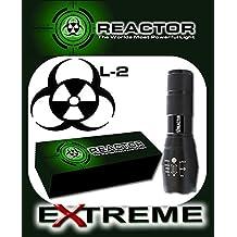 Reactor XT808 2500 Lumen Zoom L-2 LED Bulb, SUPER BRIGHT Tactical Flashlight TAClight