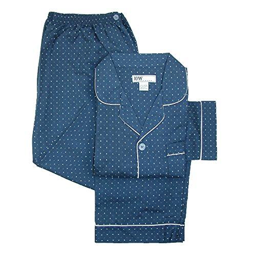 Ten West Apparel Men's Big and Tall Long Sleeve Long Leg Pajamas, 3X, Navy (Tall Mens Pajamas)