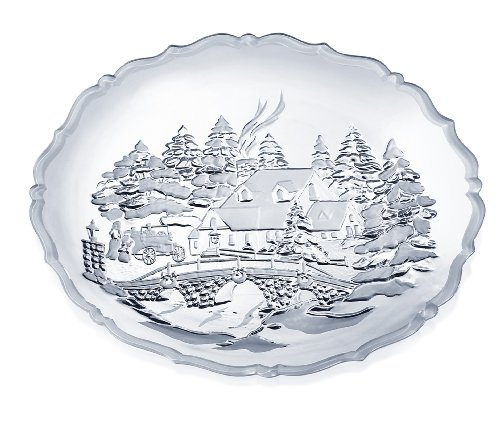 Celebrations by Mikasa Winter Wonderland 15-Inch Round Platter