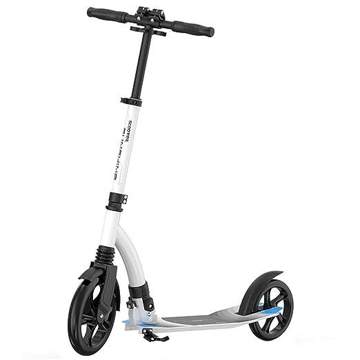 ACZZ Patinete plegable para adultos con ruedas grandes ...
