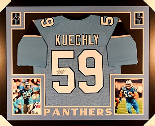 luke-kuechly-signed-panthers-35x43-custom-framed-jersey-jsa-coa