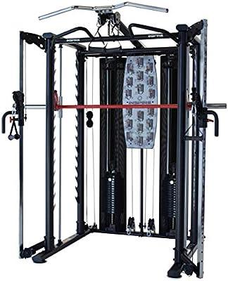 Inspire Fitness Smith Sistema de jaula incluido dos pilas de pesas ...