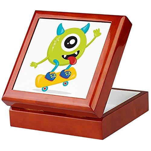 (Keepsake Box Mahogany One Eyed Monster on Skateboard)