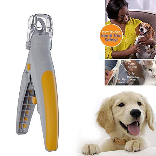 ROKOO Produits pour animaux domestiques Coupe-ongles pour animaux de compagnie Chat Ongles de chien Tondeuses Cisailles avec lumière LED