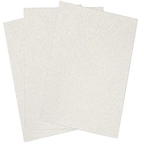 SIMPLY ELEGANT Eva Foam Glitter Large Sheet - White - 16