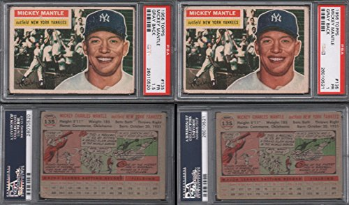 1956 Topps Regular (Baseball) Card# 135 Mickey Mantle (psa) of the New York Yankees Fair Condition