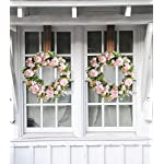 HEBE-20-Peony-Flower-Wreath-for-Front-Door-Large-Artificial-Pink-Peonies-with-Hydrangeas-Welcome-Floral-Door-Wreath-for-WeddingWindow-WallHome-Decor-All-Seasons