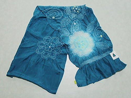 正絹兵児帯 青系色の帯 絹のへこ帯 浴衣用 七五三用 ちょっぴり理由あり D0608-01