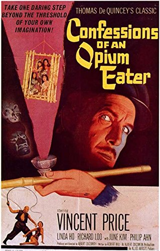 Confessions of an Opium Eater Placard Movie B 11x17 Vincent Price Linda Ho Richard Loo June Kyoto Lu