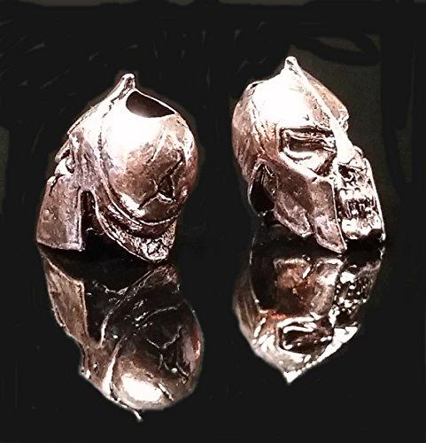 Schmuckatelli Spartan Skull Knife Lanyard Bead Keychain Paracord Antique Copper