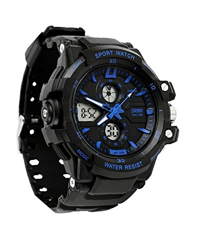 Amazon.com: Relojes de Hombre Sport LED Digital Military Water Resistant Watch Digital Men RE0025: Watches