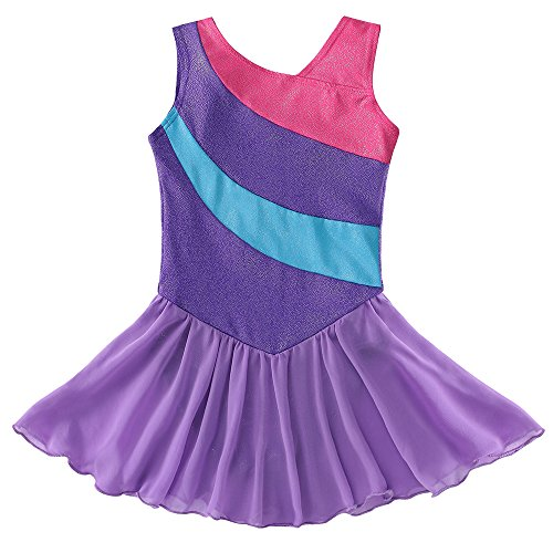Kidsparadisy Wrap Skirted Leotards for Girls Gymnastics Ribbon Ballet Costume