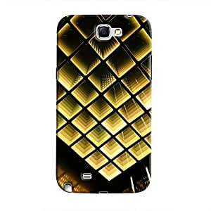 Cover It Up - Infinite Golden Squares Galaxy Note 2 N7100 Hard Case