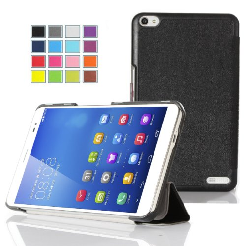 IVSO Slim Smart-Cover Style Leder Hülle Case Folio Tasche Cover für Huawei MediaPad X1 7.0 - Tablet de 7