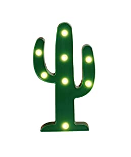 Vimlits New Green Cactus Marquee LED Night Light Battery Operated Night Lights For Kids Rooms Children Cute Bedroom Lamp luminarias