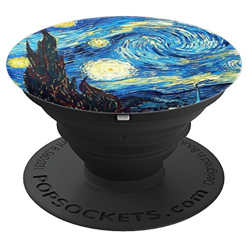 (Van Gogh Starry Night Cell Phone Stand Cute Art Gift - PopSockets Grip and Stand for Phones and Tablets)