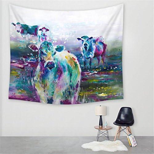 Tapestry Minimalist Art Watercolor Cow Decorative Tapestry Wall Hanging Tapestry Home Decoration