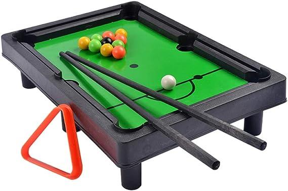 Billar Snooker Plegable Tema de los Deportes de Mesa Mesa de Billar Juego de Billar de Deportes for niños Los niños de Mesa Juguete (Color : Verde, tamaño : 31.5x7.5x21.5cm): Amazon.es: Hogar
