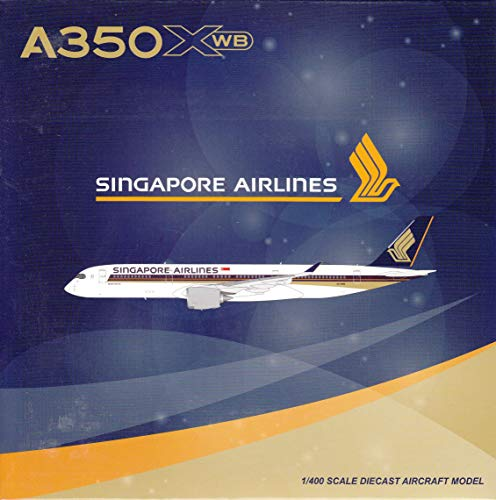 JC Wings JCW4097 1:400 Singapore Airlines Airbus A350-900 with Antenna Reg #9V-SKR (pre-Painted/pre-Built)