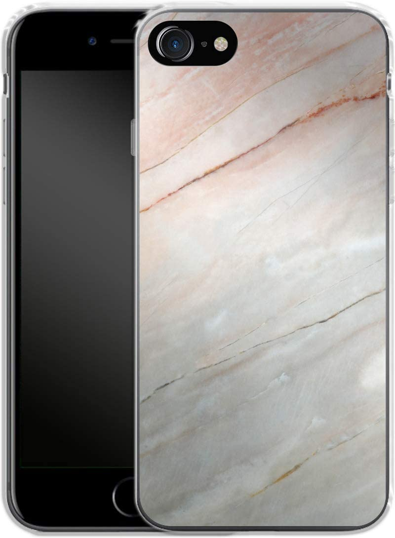 Smartphone Silicone Mobile Phone Case Mother of Pearl Marble Apple iPhone 7/8/SE (2020)