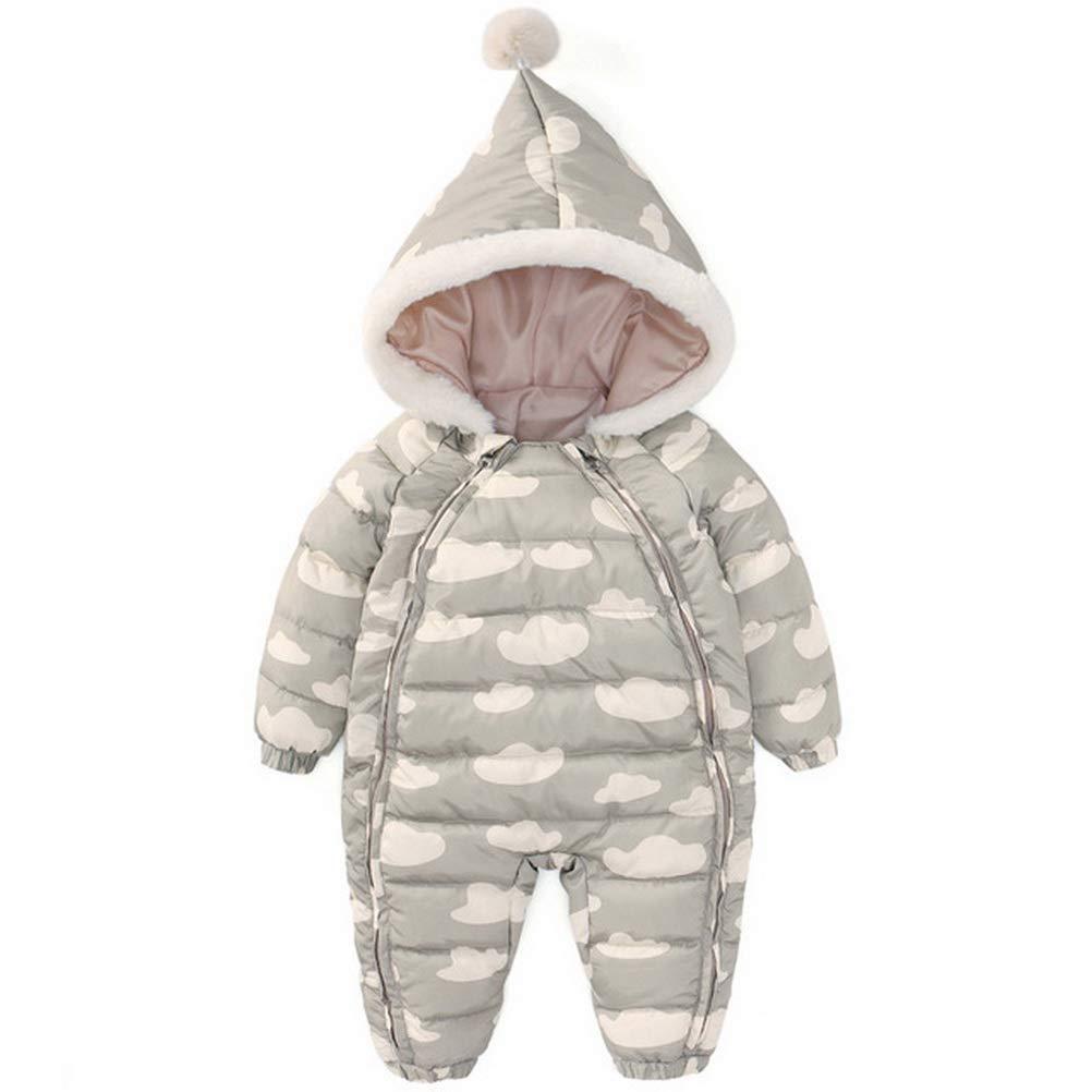 ARAUS Baby Boy Girls Winter Hooded Snowsuit Romper Baby Coat Zipper Long Sleeve Outfit