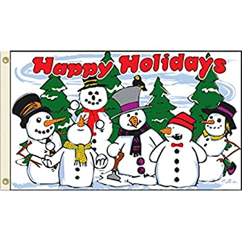 vista flags 3x5 snowmen happy holidays flag christmas holiday decoration banner party