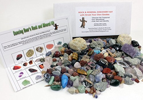 rock-mineral-collection-activity-kit-over-150-pcs-with-educational-identification-sheet-plus-2-easy-