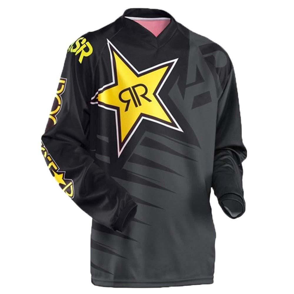 Fahrrad Reitanzug Outdoor Sports Langarm T-Shirt Downhill Anzug Motocross Racing Jersey Fahrrad Trikot LPLHJD (Color : 10, Size : S)