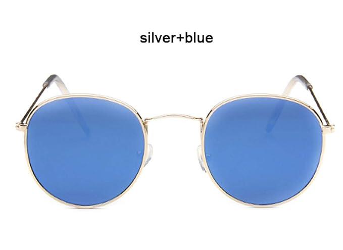 Wang-RX Espejo de moda gafas de sol Mujer Hombre Gafas de ...