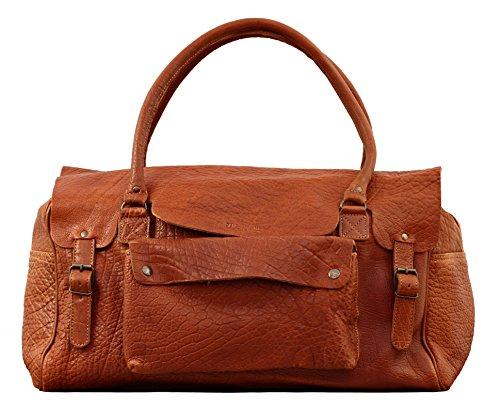 LE HONFLEUR Maronne borsa pelle vintage, Borsa da viaggio, borsa a tracolla, PAUL MARIUS, Vintage & Retro