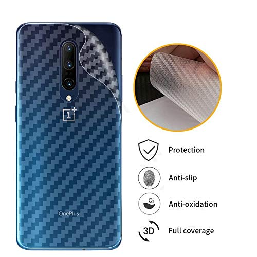 Prime Retail Back Guard Carbon Fiber Finish Ultra Thin Scratch Resistant Safety Protective Film for OnePlus 7 Pro – Transparent