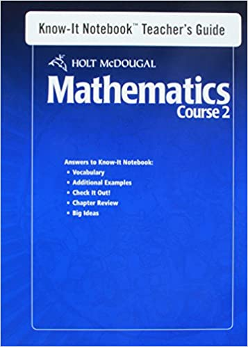 Amazon com: Holt McDougal Mathematics: Know-It Notebook