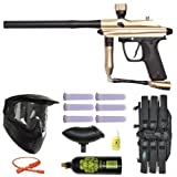 Azodin Kaos Paintball Marker Gun 3Skull Mega Set - Gold/Black