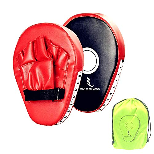 (Buy Allamazing Leather Boxing Gloves Mitts Training Target Focus Punch Pads)