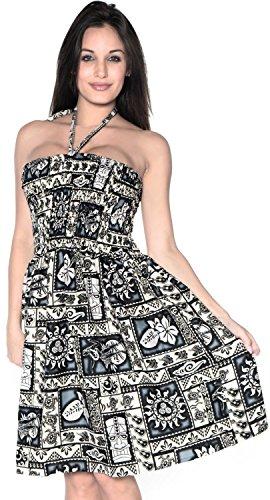 Superior para de Tirantes Playa Ropa j375 Traje Falda de Negro la Mujer Midi Aloha Halter Vestido de Maxi de Vestido Tubo baño Encubrir 4dqwc7