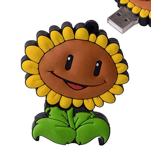 D-CLICK TM 4GB/8GB/16GB/32GB/64GB/Cool USB High Speed Flash Memory Stick Pen Drive Disk (16GB, Sunflower) (Usb Drive Lizard)