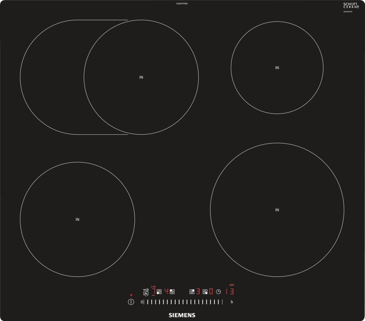 INDUCTION COOKTOP SIEMENS EH 601FFB1E (4 FIELDS; BLACK ...