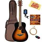 Yamaha JR2 3/4-Size Acoustic Guitar - Tobacco Sunburst Bundle with Gig Bag, Tuner, Strings, String Winder, Picks, Austin Bazaar Instructional DVD, and Polishing Cloth
